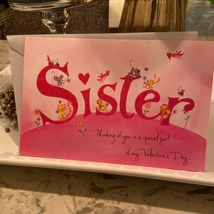 3/$5 Sister Valentine's Day Card